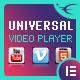 Universal Video Player – YouTube/Vimeo/Self-Hosted – Elementor Widget